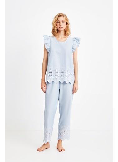 Penye Mood 9021 Pijama Takım Mavi